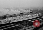 Image of luxury liner Queen Elizabeth Southampton England, 1946, second 3 stock footage video 65675072300