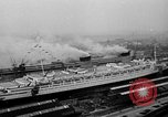 Image of luxury liner Queen Elizabeth Southampton England, 1946, second 4 stock footage video 65675072300