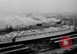 Image of luxury liner Queen Elizabeth Southampton England, 1946, second 5 stock footage video 65675072300
