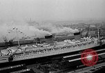 Image of luxury liner Queen Elizabeth Southampton England, 1946, second 6 stock footage video 65675072300
