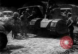 Image of U.S. Infantry and French FT-17 tanks advancing in World War 1 Western Front, 1918, second 1 stock footage video 65675072379