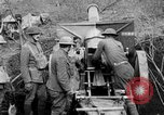 Image of United States Army artillery firing 155mm howitzers Western Front, 1917, second 8 stock footage video 65675072381