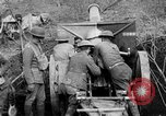Image of United States Army artillery firing 155mm howitzers Western Front, 1917, second 11 stock footage video 65675072381
