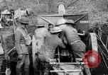 Image of United States Army artillery firing 155mm howitzers Western Front, 1917, second 12 stock footage video 65675072381