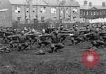 Image of American airmen exercise and calisthenics World War I London England United Kingdom, 1917, second 3 stock footage video 65675072433