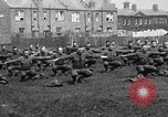 Image of American airmen exercise and calisthenics World War I London England United Kingdom, 1917, second 5 stock footage video 65675072433