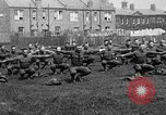 Image of American airmen exercise and calisthenics World War I London England United Kingdom, 1917, second 8 stock footage video 65675072433