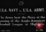 Image of Army versus Navy baseball in Anglo American Baseball League London England United Kingdom, 1917, second 5 stock footage video 65675072434