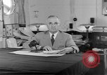 Image of Harry S Truman announcing the use of an atomic bomb California USA, 1945, second 11 stock footage video 65675072459