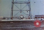 Image of Hoisting of Gadget atomic bomb before Trinity nuclear test Alamogordo New Mexico USA, 1945, second 3 stock footage video 65675072463