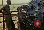 Image of Trinity atomic bomb Gadget wired for detonation Alamogordo New Mexico USA, 1945, second 2 stock footage video 65675072464