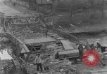 Image of German citizens clean and repair damaged bridge Ickern Germany, 1945, second 4 stock footage video 65675072471