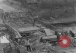 Image of German citizens clean and repair damaged bridge Ickern Germany, 1945, second 5 stock footage video 65675072471