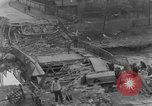 Image of German citizens clean and repair damaged bridge Ickern Germany, 1945, second 8 stock footage video 65675072471