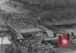 Image of German citizens clean and repair damaged bridge Ickern Germany, 1945, second 9 stock footage video 65675072471