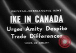 Image of Dwight D Eisenhower Ottawa Ontario Canada, 1958, second 2 stock footage video 65675072511