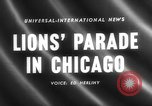 Image of Lions Clubs International parade Chicago Illinois USA, 1958, second 3 stock footage video 65675072516