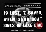 Image of Sand boat tragedy Cleveland Ohio USA, 1936, second 1 stock footage video 65675072519