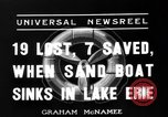 Image of Sand boat tragedy Cleveland Ohio USA, 1936, second 4 stock footage video 65675072519