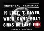 Image of Sand boat tragedy Cleveland Ohio USA, 1936, second 6 stock footage video 65675072519
