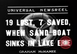 Image of Sand boat tragedy Cleveland Ohio USA, 1936, second 7 stock footage video 65675072519
