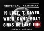 Image of Sand boat tragedy Cleveland Ohio USA, 1936, second 8 stock footage video 65675072519