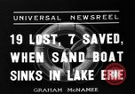Image of Sand boat tragedy Cleveland Ohio USA, 1936, second 9 stock footage video 65675072519