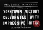 Image of Victory celebrations Yorktown Virginia USA, 1936, second 1 stock footage video 65675072523