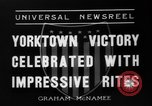 Image of Victory celebrations Yorktown Virginia USA, 1936, second 6 stock footage video 65675072523