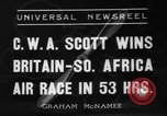 Image of Britain- South Africa air race South Africa, 1936, second 1 stock footage video 65675072524