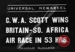 Image of Britain- South Africa air race South Africa, 1936, second 5 stock footage video 65675072524