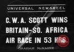Image of Britain- South Africa air race South Africa, 1936, second 9 stock footage video 65675072524