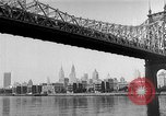 Image of Queensboro Bridge New York United States USA, 1954, second 11 stock footage video 65675072569