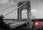 Image of George Washington Bridge New York United States USA, 1954, second 4 stock footage video 65675072573