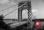 Image of George Washington Bridge New York United States USA, 1954, second 5 stock footage video 65675072573