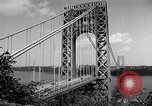 Image of George Washington Bridge New York United States USA, 1954, second 7 stock footage video 65675072573