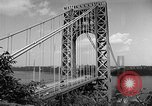 Image of George Washington Bridge New York United States USA, 1954, second 8 stock footage video 65675072573
