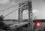 Image of George Washington Bridge New York United States USA, 1954, second 10 stock footage video 65675072573