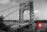Image of George Washington Bridge New York United States USA, 1954, second 11 stock footage video 65675072573