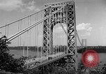 Image of George Washington Bridge New York United States USA, 1954, second 12 stock footage video 65675072573