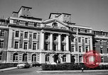 Image of campus building New York United States USA, 1962, second 8 stock footage video 65675072592