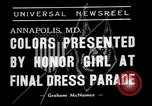 Image of final dress parade Annapolis Maryland USA, 1938, second 2 stock footage video 65675072645
