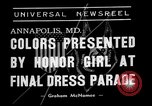Image of final dress parade Annapolis Maryland USA, 1938, second 6 stock footage video 65675072645
