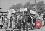 Image of cannery labors strike Racine Wisconsin USA, 1938, second 8 stock footage video 65675072649