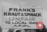 Image of cannery labors strike Racine Wisconsin USA, 1938, second 9 stock footage video 65675072649