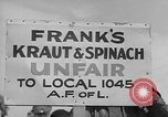 Image of cannery labors strike Racine Wisconsin USA, 1938, second 10 stock footage video 65675072649