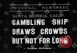 Image of gambling ship Santa Monica California USA, 1938, second 1 stock footage video 65675072653