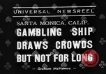 Image of gambling ship Santa Monica California USA, 1938, second 6 stock footage video 65675072653