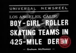 Image of roller derby Los Angeles California USA, 1938, second 3 stock footage video 65675072655