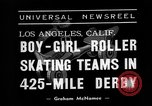 Image of roller derby Los Angeles California USA, 1938, second 7 stock footage video 65675072655